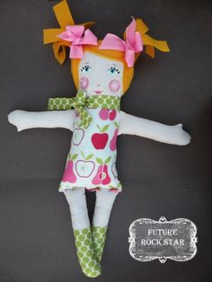 Hand Painted Rag Doll