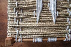 Easy DIY Woven Footstool