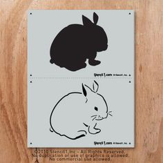 Bunny stencil for Easter