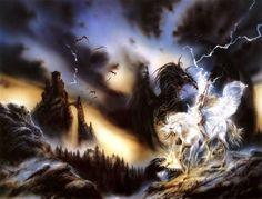Dragón y unicornio - Luis Royo