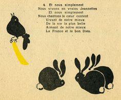 """""""Fleurs d'or"""" chansons de Francine Cockenpot illustrations de G Vallée éditions du seuil édition 1946, 18x13 cm"""