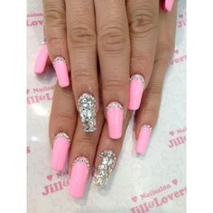 GLASS SLIPPER GLAMOUR via Polyvore featuring nails