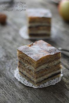 Slovenian Prekmurje Gibanica. // Traditional cake / pie. Om, nom & nom.