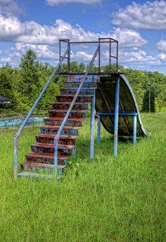 Abandoned children's slide - Kentucky.
