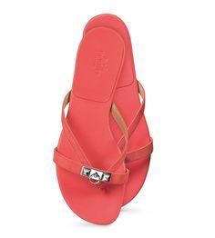 Hermes ladies' sandal in papaya suede