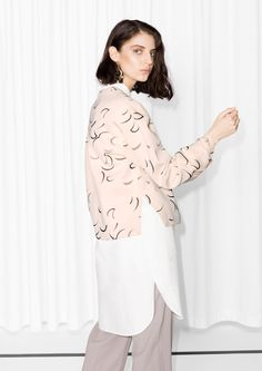 & Other Stories | New Moon Print Scuba Sweater