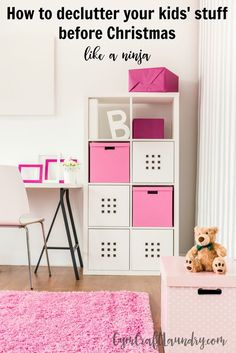 How to declutter your kids stuff before Christmas like a Ninja