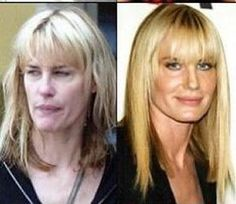 The Illusion of Beauty: Artificial vs Natural - Daryl Hannah Celebrity Gallery, Celebrity Look, Celebrity Pictures, Daryl Hannah, Makeup Photoshop, No Photoshop, Olivia Wilde, Jennifer Aniston, Celebrity Makeup Transformation
