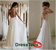 Lace  backless Ivory wedding dresses / Wedding Dress / Bridal Dress / Wedding Gown