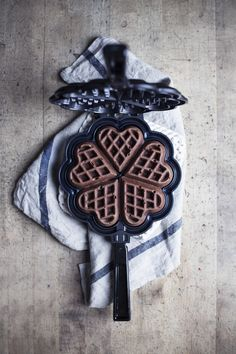 Best Chocolate Waffles in Nordic Ware's new Heart Waffle Pan. Breakfast Waffles, The Breakfast Club, Pancakes And Waffles, Chocolate Waffles, Best Chocolate, Waffle Pan, Must Have Kitchen Gadgets, Catering Equipment, Nordic Ware