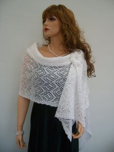 Best 12 Knit to ORDER. Hand Knit Natural White colour Luxury Mohair Brilad Wedding Scarf – Shawl – Wrap, Bridal – Bridesmaid Accessories, Lace Knitted Shawl Scarf – Shawl – Wrap Length – about 210 cm / 83 inches. Scarf – Shawl – Wrap Width – about 58 cm / Bridal Shrug, Scarf Knots, Evening Shawls, Bridesmaid Accessories, Bridal Accessories, Lace Scarf, Knitted Shawls, Lace Knitting, Scarf Styles