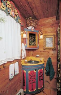 Swedish cottage bathroom. Completely different, but another possibility