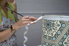 upholstery basics: how to make a lampshade Make A Lampshade, Lampshades, Crafts To Make, Diy Crafts, Lampshade Designs, Macrame Patterns, Upholstery, Diy Projects, Crafty