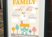 Family make this house a home Print by JensLittleT & JLWIllustration