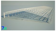 Steel Trusses, Roof Trusses, Steel Structure Buildings, Roof Structure, Architecture Board, Concept Architecture, Outdoor Awnings, Building Foundation, Warehouse Design