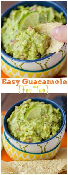 Easy Guacamole For Two. This is the perfect recipe for a crazy delicious guacamole made in a small batch!