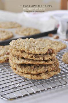 The recipe for these oatmeal cookies originally appeared on the back of C&H Sugar box and were originally called Raggedy Ann Cookies. This recipe is what you call a classic or a vintage recipe.  It's been around for decades!  When I did a little research on the history of the Raggedy Ann Cookies I couldn't find an …