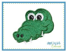 Gator Head Filled Embroidery Design