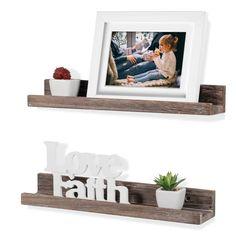 Wall Storage Shelves, Wood Wall Shelf, Wall Mounted Shelves, Wooden Shelves, Display Shelves, Wall Décor, Walnut Shelves, Narrow Shelves, Picture Ledge Shelf