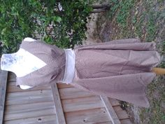 Light brown with light colored dots size 8 dress by RandomCloth, $65.00