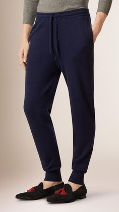 Tapered Cashmere Joggers Ink | Burberry