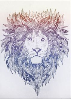 Now I know this isn't a doodle, but this is AMAZING! And my love for lions just grows when I look at this!!
