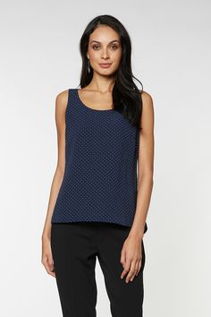 Shop for Dani Double Layer Tank - Fashion Tops - Max Shop Easy Wear, Layers, Denim, Tank Tops, How To Wear, Shopping, Women, Fashion, Layering