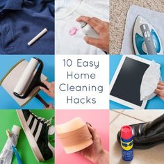 10 Easy ~~ Home Cleaning Hacks