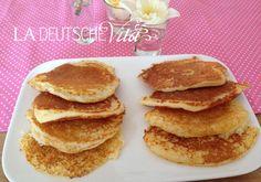 Sattmacher Pancakes | La deutsche Vita Crepes And Waffles, Fluffy Pancakes, Weigt Watchers, Tasty, Sweets, Cooking, Breakfast, Health, Desserts