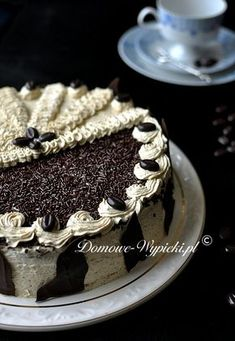 Poppy seed cake with coffee mass Sweet Recipes, Cake Recipes, Poppy Seed Cake, Polish Recipes, Food Cakes, Tiramisu, Recipies, Nail Designs, Gluten Free