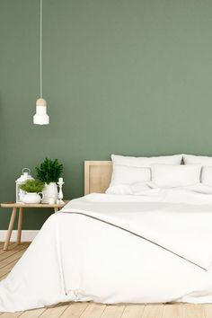 Libra: Dark Green Soothing blues and darker greens keep this air sign grounded, says Wright. These statement colors will also speak to their love to entertain (guests will love it!) and desire to find peace at home. Home Bedroom, Green Rooms, Wall Decor Bedroom, Bedroom Interior, Room Colors, Feng Shui Bedroom, Trending Decor, Green Bedroom Walls, Bedroom Wall Colors