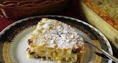 Stíriai metélt (Nagyi recept) – Csodás túrós finomság, akár egytálételként is kitűnő! Apple Pie, Lasagna, French Toast, Deserts, Muffin, Food And Drink, Bread, Cooking, Breakfast