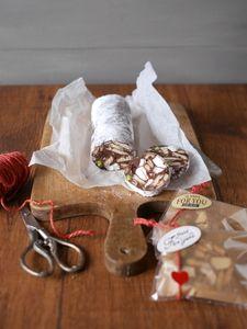 チョコレートサラミ Gift Baskets, Feta, Deserts, Pudding, Sweets, Candy, Cheese, Baking, My Favorite Things