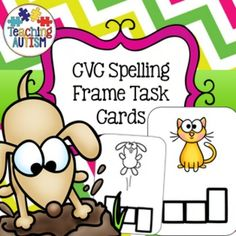 CVC Spelling Frame Task CardsThis download includes spelling frame task cards related to CVC words. There is a total of 30 different task cards included and they come in col and b/w option.I recommend cutting out each of the task cards individually and then laminating them so that they will be stronger and longer lasting.