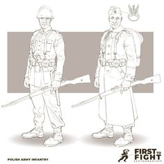Polish Infantry 1939 FIRST TO FIGHT : September 1939 - Drawing from my personal project I started recently.