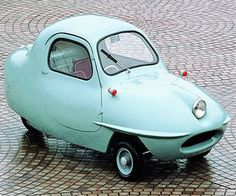 I would like to drive this cartoon car! Check out the one headlight! So cars sports cars vs lamborghini sport cars cars Luxury Sports Cars, Sport Cars, Mini Car, American Graffiti, Weird Cars, That's Weird, 3rd Wheel, Cute Cars, Cars Motorcycles