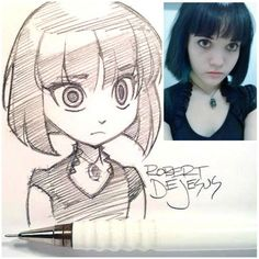 Pencil Portraits - Chibi Style Acila by Banzchan. on - Discover The Secrets Of Drawing Realistic Pencil Portraits.Let Me Show You How You Too Can Draw Realistic Pencil Portraits With My Truly Step-by-Step Guide. Cartoon Sketches, Drawing Sketches, Pencil Drawings, Art Drawings, Drawing Skills, Drawing Ideas, Character Design Cartoon, Character Sketches, Character Drawing