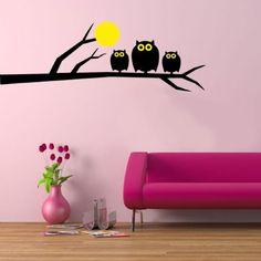 Vinilo decorativo OWL FAMILY