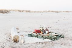 Beach picnic | Wedding & Party Ideas | 100 Layer Cake | @Ashley Caroline Photography