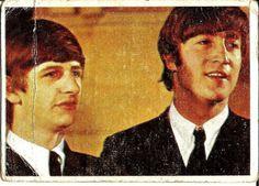 1964 TOPPS BEATLES BUBBLEGUM CARD NO.47--RINGO STARR & JOHN LENNON