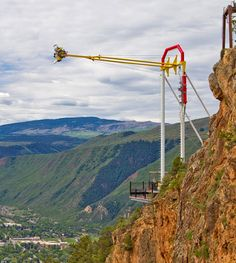 Glenwood springs adventure park. Love this place! Bunjee jumping, giant swing that goes over the canyon, HUGE alpine slide, and tons more. So fun!