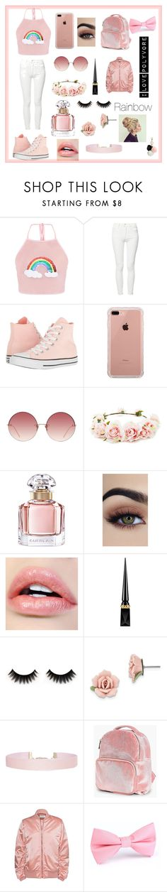 """""""Rainbow!!!!"""" by chrissymills on Polyvore featuring Mother, Converse, Belkin, Linda Farrow, Forever 21, Guerlain, Christian Louboutin, 1928, Humble Chic and Boohoo"""