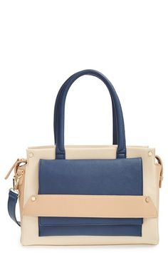 Sole Society Colorblock Vegan Leather Satchel available at #Nordstrom