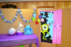 Decorations at a Monsters Inc Party #monstersinc #partydecor