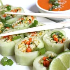 Beauty in Balance: Raw Vegan Naruto Rolls Cucumbers are 95% water; they keep the body hydrated and help regulate the body's inner temperature. They also help the body flush out toxins. They are a good source of dietary fiber and low in calories.