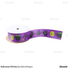 Halloween Witches Blank Ribbon #halloween #witch #cat #blackcat #broom
