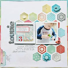 #papercraft #scrapbook #layout Sophie Crespy for Crate Paper using The Pier