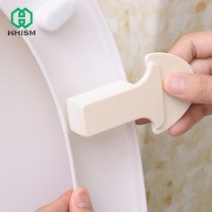2Pcs Toilet Seat Cover Lifter Handle Avoid Touching Hygienic Clean sticker tool