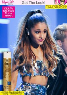 Ariana Grande's Sweet High Ponytail At MMVAs — How To-To create sweet and lively hair that dances like Ariana's, you need to style every strand of that pony to perfection.