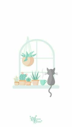 Ideas Cats Wallpaper Iphone Pictures For 2019 Frühling Wallpaper, Spring Wallpaper, Pastel Wallpaper, Wallpaper Backgrounds, Wallpaper Plants, Iphone Wallpaper Cat, Seagrass Wallpaper, Paintable Wallpaper, Live Wallpapers